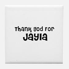 Thank God For Jayla Tile Coaster