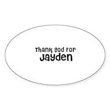Thank God For Jayden Oval Decal