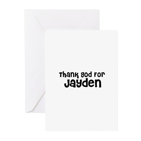 Thank God For Jayden Greeting Cards (Pk of 10)