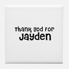 Thank God For Jayden Tile Coaster