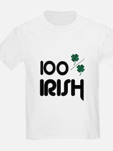 100% IRISH (LUCKY) Kids T-Shirt