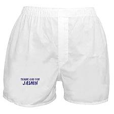 Thank God For Jasmin Boxer Shorts