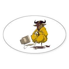 Levitating GNU Decal