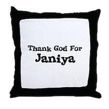 Thank God For Janiya Throw Pillow