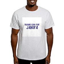 Thank God For Janiya Ash Grey T-Shirt