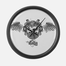 Cool Daly family crest Large Wall Clock