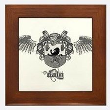 Cute Daly family crest Framed Tile