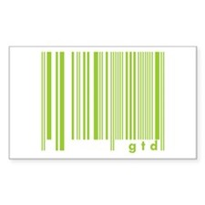 GTD Getting Things Done Rectangle Decal
