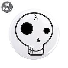 "Happy Fun Skull 3.5"" Button (10 pack)"