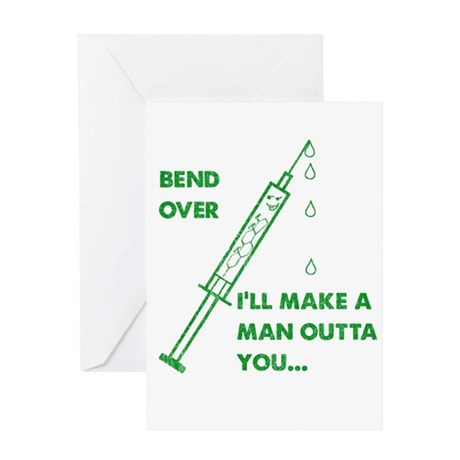2-Bend over Greeting Cards