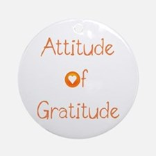 Attitude of Gratitude Ornament (Round)
