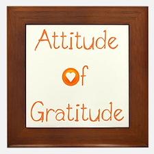 Attitude of Gratitude Framed Tile