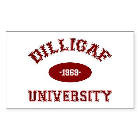 DILLIGAF University - Sticker (Rectangle)