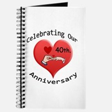 Funny 40th wedding anniversary Journal