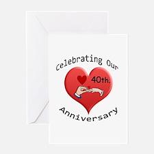 Unique 40th wedding anniversary Greeting Card
