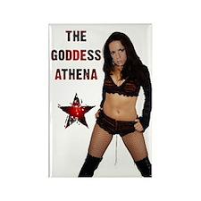 The Goddess Athena Rectangle Magnet