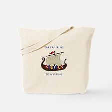Liking Vikings Tote Bag