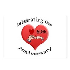 Unique Wedding anniversary party Postcards (Package of 8)