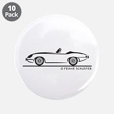 "Jaguar E-Type Roadster 3.5"" Button (10 pack)"