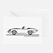 Jaguar E-Type Roadster Greeting Cards (Pk of 10)