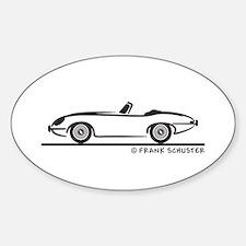 Jaguar E-Type Roadster Sticker (Oval)