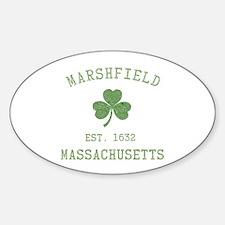 Marshfield MA Sticker (Oval)