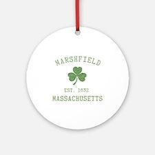 Marshfield MA Ornament (Round)