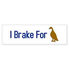 I Brake for Ducks Bumper Bumper Sticker