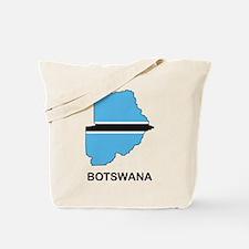 Map Of Botswana Tote Bag