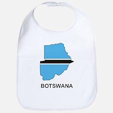 Map Of Botswana Bib