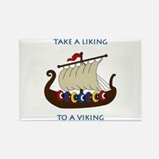Liking Vikings Rectangle Magnet