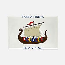 Liking Vikings Rectangle Magnet