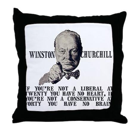 Churchill on Conservatives Throw Pillow