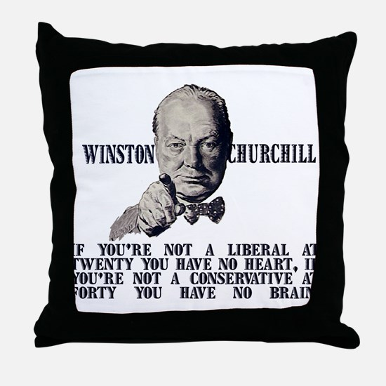 Churchill on Conservatives Throw Pillow