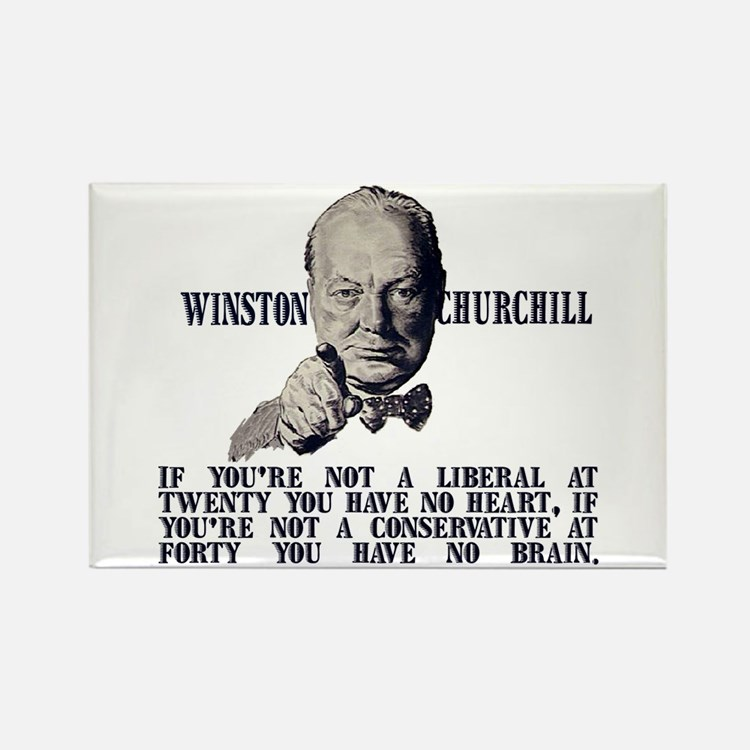 Churchill on Conservatives Rectangle Magnet
