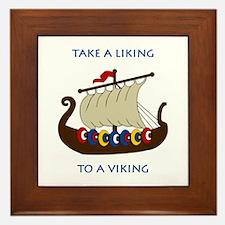 Liking Vikings Framed Tile