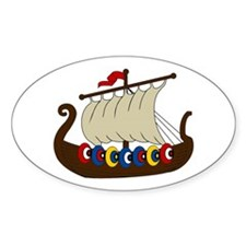 Viking Ship Decal