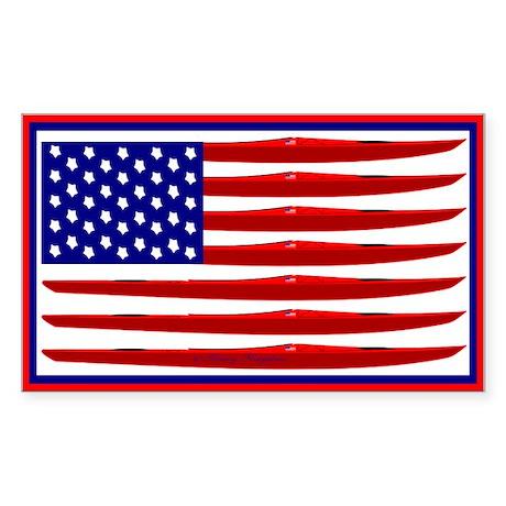 Kayak Flag Sticker (Rectangle)