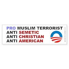Obama Pro Terrorist, Bumper Sticker