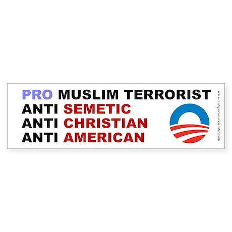 Obama Pro Terrorist, Sticker (Bumper)