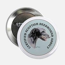 Scottish Deerhound Addict Button