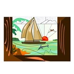 Stained-Glas Sail Postcard (8-Pack)