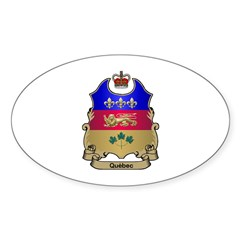 Quebec Shield Oval Decal