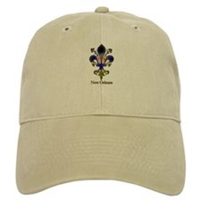 New Orleans colorful Fleur Baseball Cap