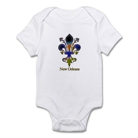 New Orleans colorful Fleur Infant Creeper
