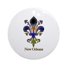 New Orleans colorful Fleur Ornament (Round)