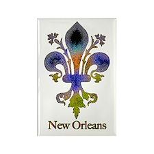 New Orleans colorful Fleur Rectangle Magnet (10 pa