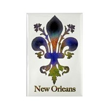 New Orleans colorful Fleur Rectangle Magnet