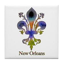 New Orleans colorful Fleur Tile Coaster