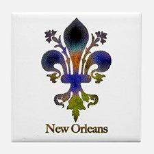 New Orleans colorful Fleur Tile Coaster